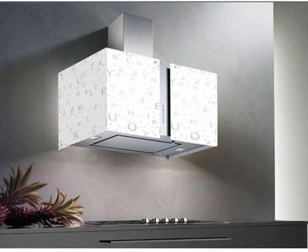 "Futuro Futuro WLxMURALFA "" Murano Alfa Series Range Hood with 940 CFM, 4-Speed Electronic Controls, Delayed Shut-Off, Filter Cleaning Reminder, Internal Whisper-Quiet Tangential Blower, and in Stainless Steel"