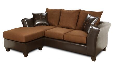 Chelsea Home Furniture 294165SDM Peyton Series Stationary Fabric Sofa