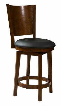 Powell 697 Big and Tall Solid Back Wood Barstool