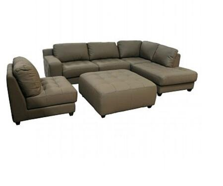 Diamond Sofa LAREDORF3PCSECTOTTOMB Contemporary Bonded Leather Living Room Set