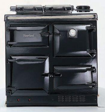 Heartland HLCKNGBLKLP  Gas Freestanding Range with Sealed Burner Cooktop, Warming in Black