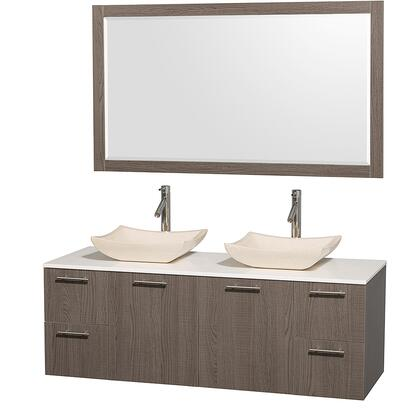 Wyndham Collection WCR410060GOWHGS2M1DB