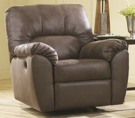Signature Design by Ashley 6750525 Amazon Series Contemporary Faux Leather Metal Frame Rocking Recliners
