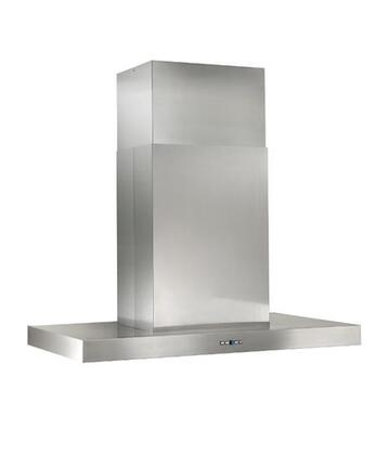 "Best IPB9 48"" Gorgona Island Mount Chimney Hood with Heat Sentry, Filter Clean Reminder, Delay Off, Hi-Flow Baffle Filter, and 4 Halogen Lights: Stainless Steel"