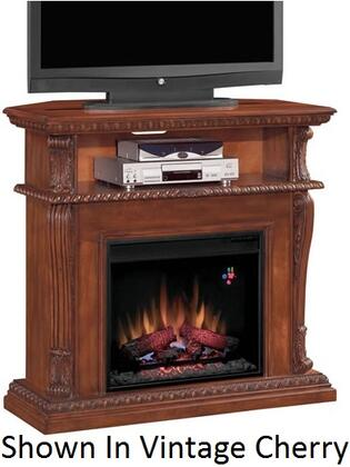 "Picture of 23DE1447-O107 Corinth 23"" Electric Fireplace with 100% Energy Efficient Open Shelf Realistic Flame Effect Finest Hardwoods and Wood Veneers in Prem"