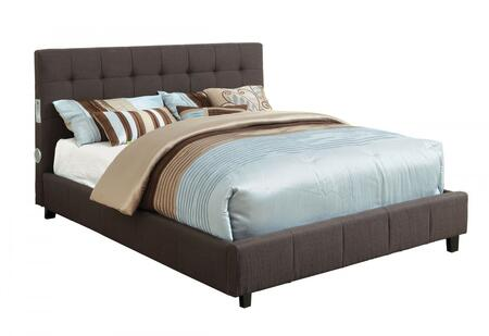 Furniture of America CM7060GYCKBED Dillan Series  California King Size Bed