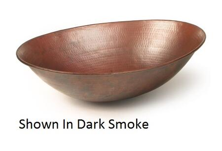 D'Vontz LV8101L15 Rimless Oval Copper Vessel Sink With 77% Recycled Copper, 99% Pure Copper & In