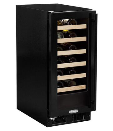 """Marvel ML15WS 15"""" Single Zone Wine Cellar with 24 Bottle Storage Capacity, Vibration Neutralization System, Dual level LED Lighting, 6 Glide-Out Racks and Dual Pane Glass Door:"""