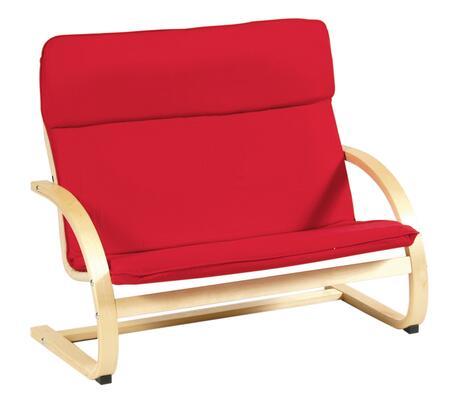 Guidecraft G6401 Rocker Series Childrens Armless  Wood Frame Fabric Rocking Chair