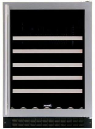 "Marvel 61WCMBSGLdonotuse 23.875"" Built-In Wine Cooler, in Stainless Steel Frame Glass with Lock/Right Hinge"