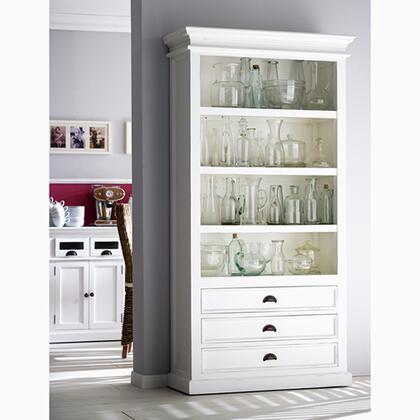 Infinita 814495011997Halifax Series Wood 4-5 Shelves Bookcase