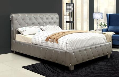 Furniture of America CM7056SVFBED Julliard Series  Full Size Panel Bed