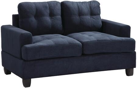 "Glory Furniture 58"" Loveseat with Tufted Cushions, Removable Backs, Removable Track Arms and Suede Fabric Upholstery in"
