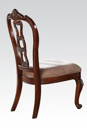 Acme Furniture 62312 Nathaneal Series Traditional Fabric Wood Frame Dining Room Chair