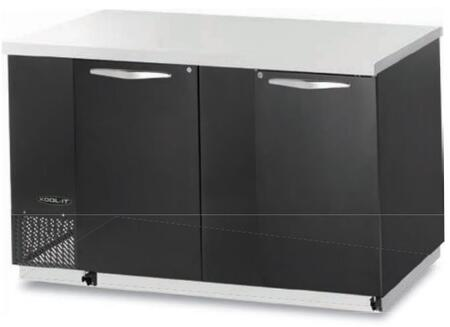 "Kool-It KBB702Sx 70"" Back Bars with Capacity of 23 cu.ft, 2 Door, 4 Shelves, 3/8 HP, in Black"