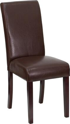 Flash Furniture BT350BRNLEA008GG Contemporary Leather Wood Frame Dining Room Chair