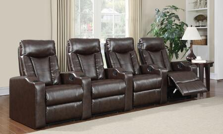 Myco Furniture CA9504BR4PC Camden Series Reclining Bonded Leather Sofa