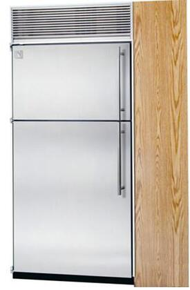 Northland 24TFWSL Built In Counter Depth Top Freezer Refrigerator with 14.9 cu. ft. Total Capacity 4 Glass Shelves 4.7 cu. ft. Freezer Capacity