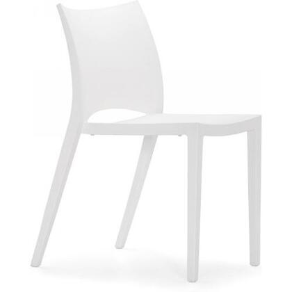 Zuo 100320 Modern Polypropelene Frame Dining Room Chair