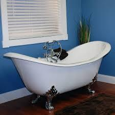 """Cambridge DESNH Cast Iron Double Ended Slipper Tub 71"""" x 30"""" with No Faucet Drillings"""