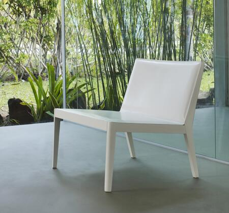 Modloft PTN13000T6C6 Frith Series Leather with Wood Frame in White