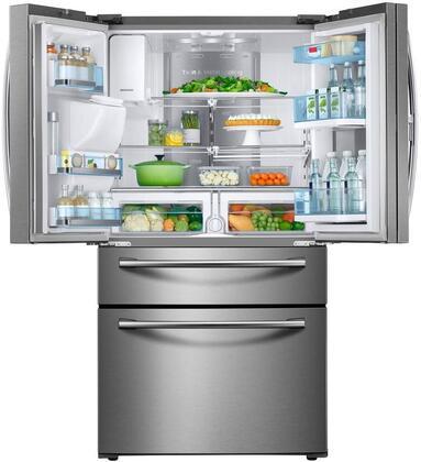 Samsung RF22KREDBSR 36 Inch Counter Depth French Door Refrigerator ...