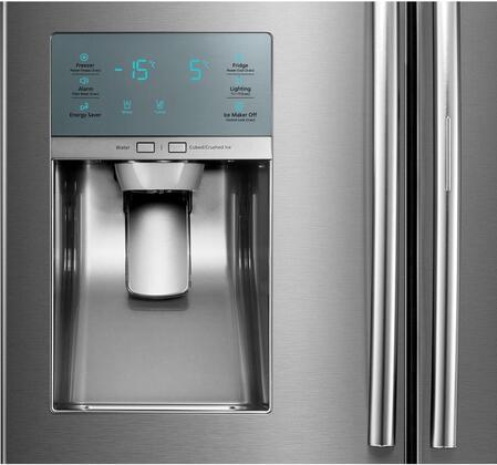 Samsung RF22KREDBSR 36 Inch Counter Depth French Door Refrigerator