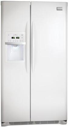 Frigidaire FGHS2667KW Gallery Series Side by Side Refrigerator with 26 cu. ft. Capacity in White Textured