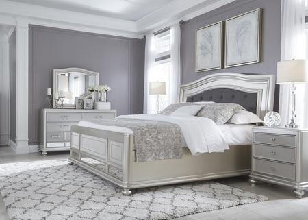 Milo Italia BR731KPBDMN Conley King Bedroom Sets