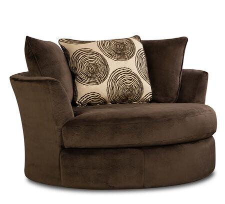 Chelsea Home Furniture 73864227GENS Rayna Swivel Chair  with 1.8 Dacron Wrapped Foam Cores, Sinuous Springs, Toss Pillows, Solid Hardwoods and Plywoods in Groovy