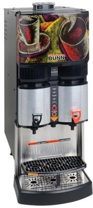 Bunn-O-Matic 34400.000x LCA-2 2 Product Liquid Coffee Ambient Dispense With FlavorGard, Ventilated Cabinet, in Silver