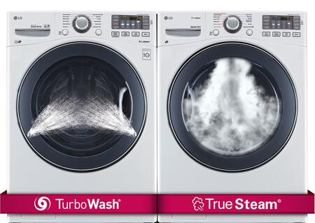 LG LG2PCFL27GWKIT5 Washer and Dryer Combos