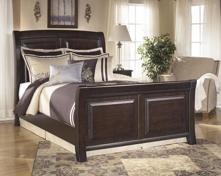 Signature Design by Ashley Ridgley Collection B520-BED Size Sleigh Bed: Dark Brown