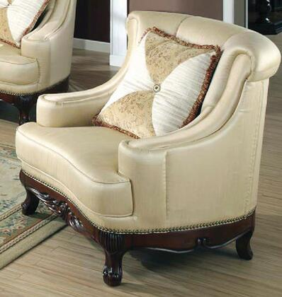 Yuan Tai PE5000C Perry Series Fabric Chair with Wood Frame