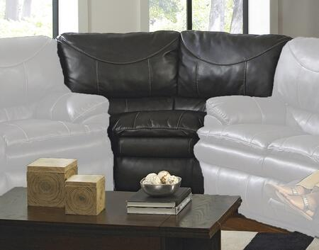 "Catnapper Perez Collection 4148- 72"" Wedge with Bonded Leather Upholstery, Luggage Stitching and Pub Back in"