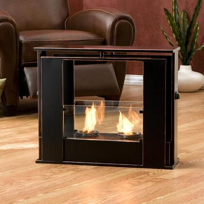 Holly & Martin 37249035401  Gel Fuel Fireplace in Painted Black Finish with Copper Accent |Appliances Connection