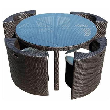 VIG Furniture VGCW7025 Modern Round Shape Patio Sets