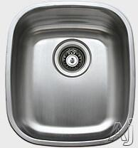 "Ukinox D345 14.5"" Wide Stainless Steel Undermount Kitchen Sink, 18-Gauge: Satin Finish"