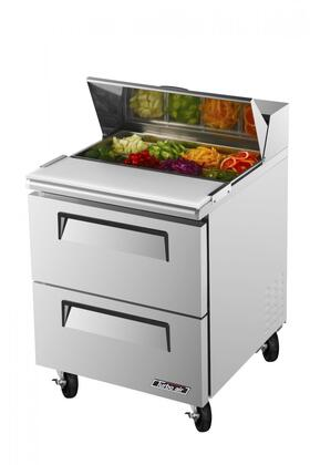 Turbo Air TSTD2 Sandwich and Salad Unit with 2 Drawers, Cold Air Compartment, Convenient Cutting Board Side Rail, Hot Gas Condensate System and Stainless Steel Cabinet Construction