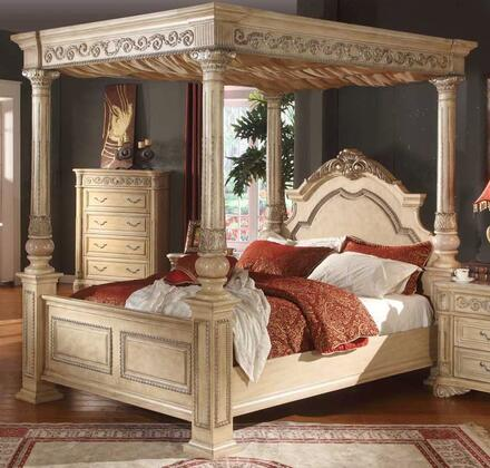 Meridian SIENNAPOSTQ Sienna Series  Queen Size Canopy Bed