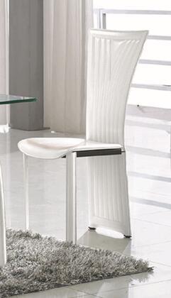Chintaly RAMONASC Ramona Series Modern Faux Leather Metal Frame Dining Room Chair