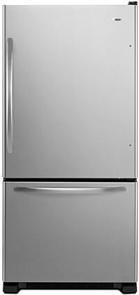 Amana ABB2224WED  Bottom Freezer Refrigerator with 21.9 cu. ft. Total Capacity 6.3 cu. ft. Freezer Capacity 4 Glass Shelves