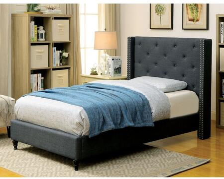 Furniture of America CM7677BLTBED Anabelle Series  Twin Size Platform Bed