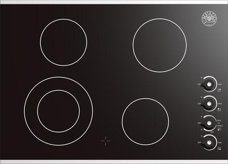 Bertazzoni P30CERNE  Electric Cooktop, in Black