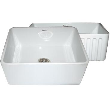 Whitehaus WHFLPLN2418BL Kitchen Sink