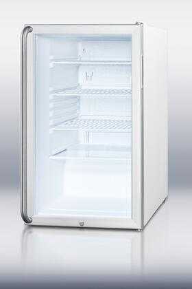 Summit SCR450LBISH  Freestanding Counter Depth Compact Refrigerator with 4.1 cu. ft. Capacity, 3 Wire ShelvesField Reversible Doors