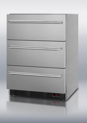 Summit SPF5DSSTBADA Built-In Refrigerator Drawer(s) Counter Depth Freezer