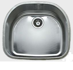 "Ukinox D537 22.13"" Wide 18 Gauge Single Bowl Undermount Stainless Steel Kitchen Sink: Satin Finish"