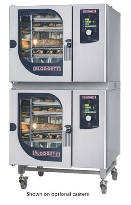 Blodgett BLCM Double Stack Electric Boilerless Combination-Oven/Steamer with Dial and Digital controls, Reversible 9 speed fan, Up to 50 recipe programs with 10 cooking stages each and Self cleaning system. Capacity:
