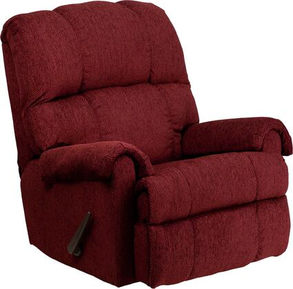 Flash Furniture WM-8700-21X-GG Contemporary Tahoe Chenille Rocker Recliner with Extremely Reliable Hickory Springs Mechanisms and 1.8 Resiliency Foam